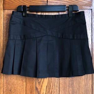BCBGMaxazria pleated cotton mini skirt